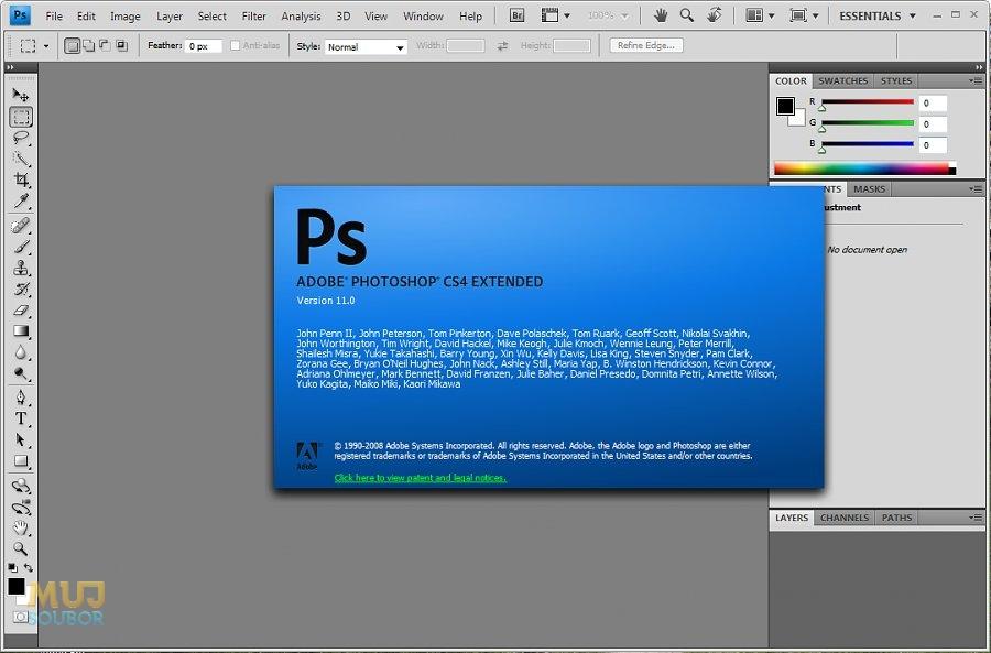 Adobe Photoshop CS4 ke sta�en� zdarma - download - Mujsoubor.cz