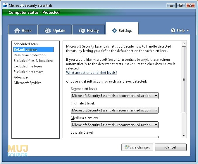 Microsoft Security Essentials galerie 3