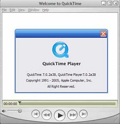 QuickTime player 7.0.2a38