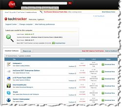 Aktualizace programůCNET TechTracker