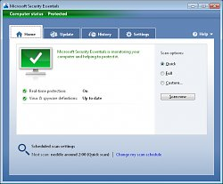 Microsoft Security Essentials galerie 2