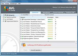 Optimalizace systémuAVG PC Tuneup