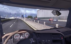 Pohled z kabinyScania Truck Driving Simulator