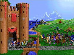 Před hrademHeroes of Might and Magic
