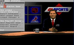 Menu hryNHL Hockey '93