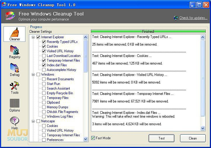Free Windows Cleanup Tool