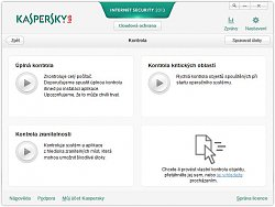 Možnosti kontrolyKaspersky Internet Security 2013