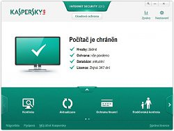 Stav ochranyKaspersky Internet Security 2013