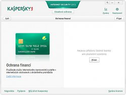 Ochrana financíKaspersky Internet Security 2013