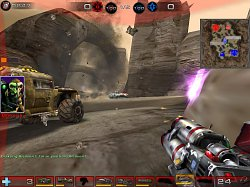 Použití raketometu - mód OnslaughtUnreal Tournament 2004
