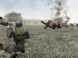 Běh přes plážMedal of Honor: Allied Assault