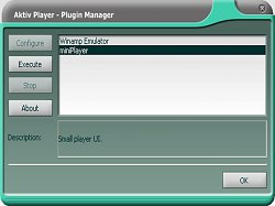 Plugin ManagerAktiv Player