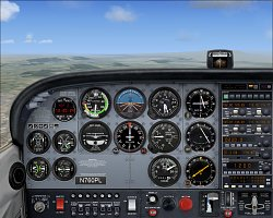 Pohled do kokpituMicrosoft Flight Simulator X