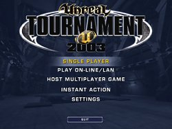 Menu hryUnreal Tournament 2003