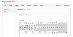 Editor textuMyPage CMS