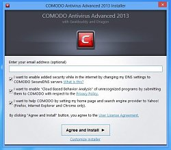 InstalaceComodo Antivirus Advanced 2013