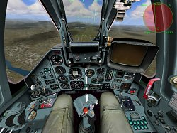 Detail kokpituLock On: Modern Air Combat