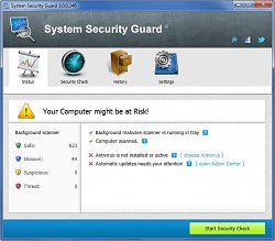 Vzhled programuSystem Security Guard