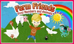 Logo hryFarm Friends: First Numbers and Animals (mobilní)