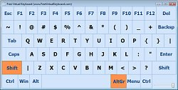 Windows 8 verzeFree Virtual Keyboard