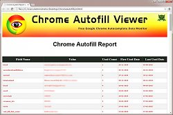 ReportChrome Autofill Viewer