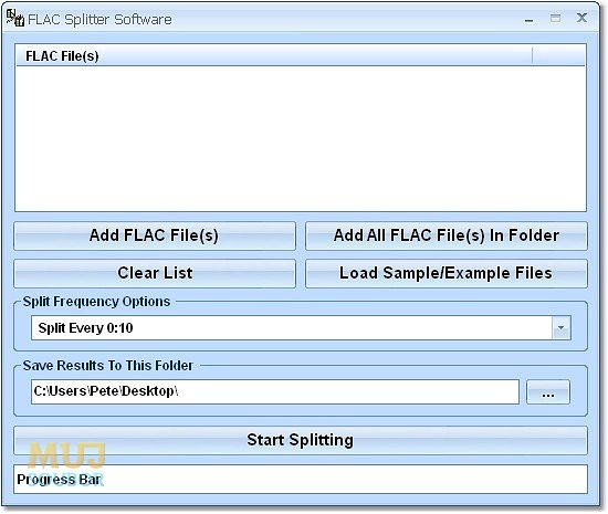 FLAC Splitter Software