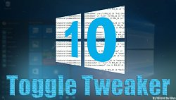 Windows 10 Toogle Tweaker