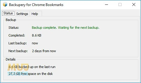 Backupery for Chrome Bookmarks