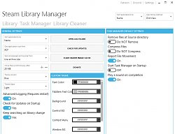 NastaveníSteam Library Manager