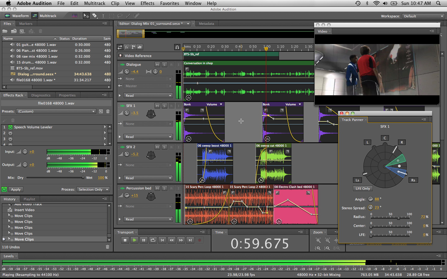 Adobe Audition vzhled programu