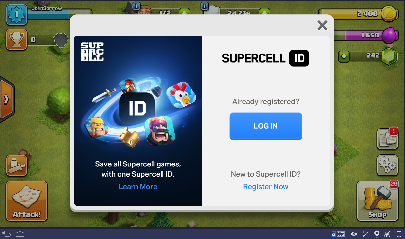 Log In Supercell ID