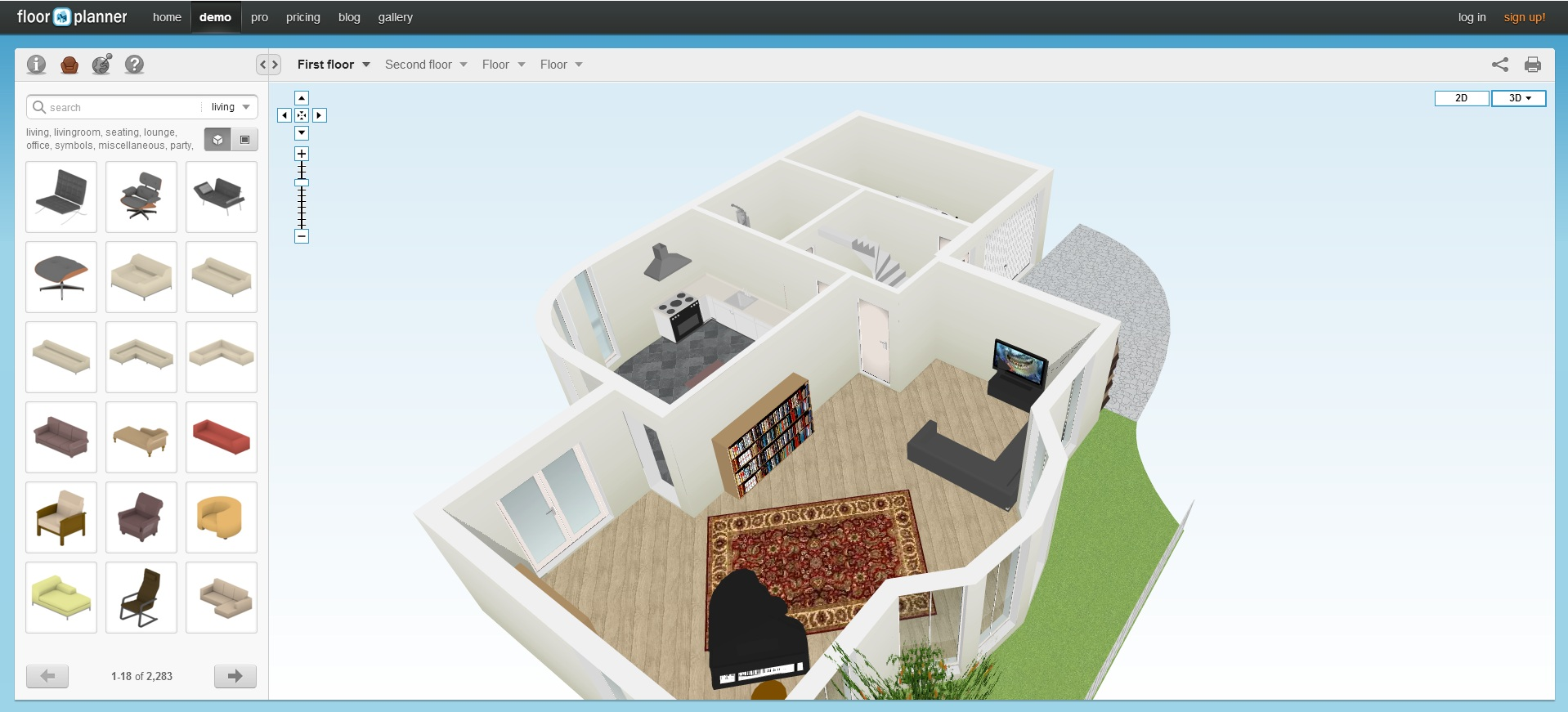 Floorplanner online software a online programy na nvrh byt for Floorplanner software