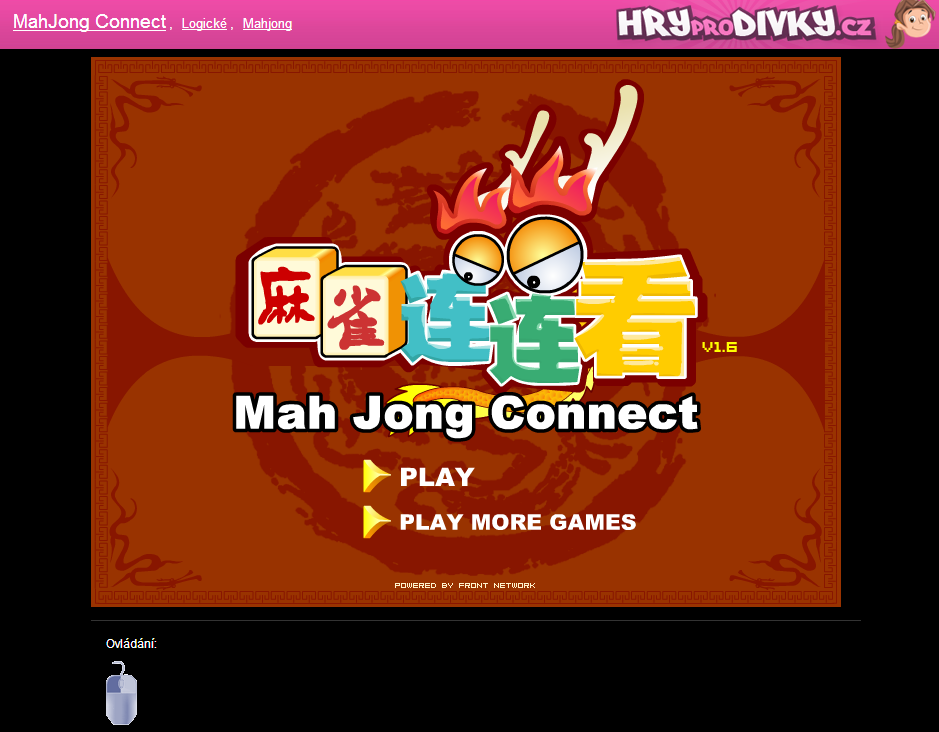 Mahjong Connect menu