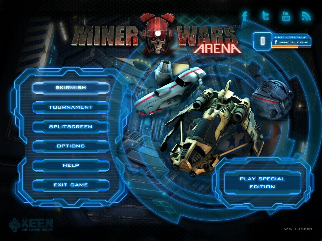 Miner Wars: Arena menu